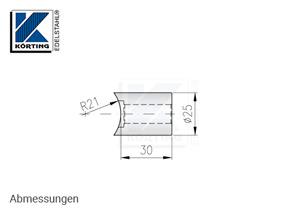 Distanzstück massiv, Länge 30 mm für Rohr 42,4 mm - Abmessungen