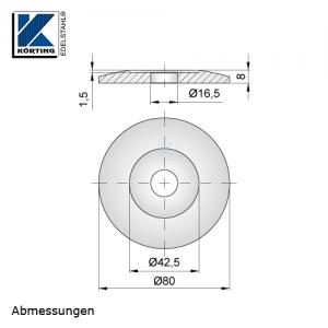 Edelstahlronde 80x8 mm - Abmessungen
