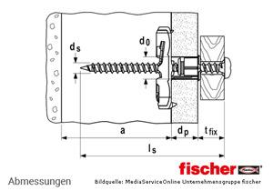 fischer DUOTEC 12 - 2-Komponenten Nylon-Kippdübel - Abmessungen
