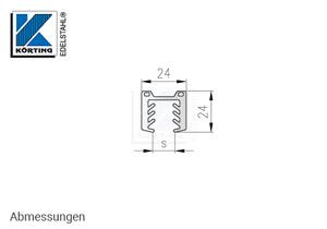 Gummi für Nutrohr 42,4x1,5 mm und Glas 11,5 mm bis 13,50 mm - Abmessungen