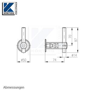 Handlaufhalter für Handlauf aus Edelstahl, D25 mit Handlaufaufträger Rd14 und Ronde zum Anschweißen