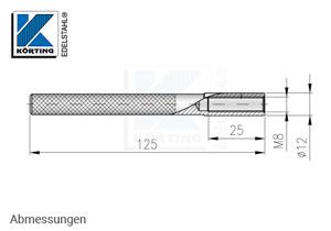 Innengewindeanker M8 x 125 mm - Abmessungen