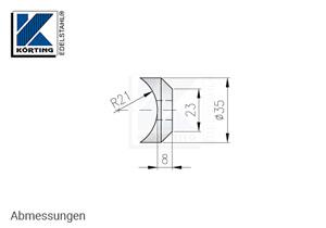Abmessungen Pfostenhalter aus Edelstahl zur Montage von Pfosten aus Edelstahlrohr im Durchmesser von 42 mm mit Gewindestangen M10