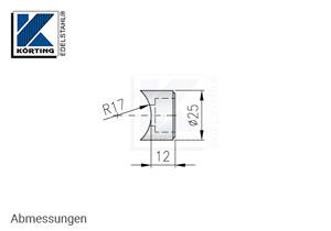 Pfostenhalter für Rohr 33,7 mm und Zylinderschraubn M10 - Abmessungen