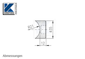 Pfostenhalter für Rohr 42,4 mm und Zylinderschraubn M10 - Abmessungen