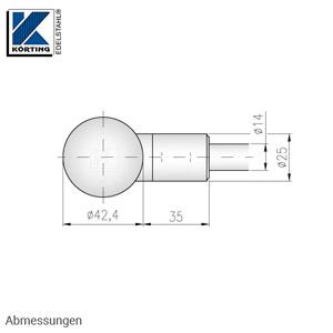 Stabhalter für Geländerpfosten für Rundmaterial 14 mm, mit Sackbohrung in der Stirnseite - Abmessungen