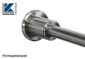 Edelstahlronde als Auflagevergrößerung für Handlaufhalter oder die Montage mit Distanzstücken bei Pfostenbefestigungen