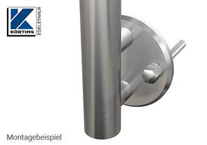 Distanzstück massiv, Länge 30 mm für Rohr 42,4 mm - Montagebeispiel