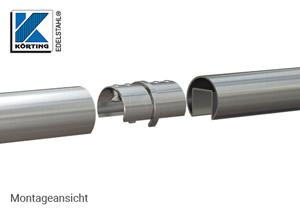Rohrverbinder für Nutrohr 42,4 x 1,5 mm - Montageansicht