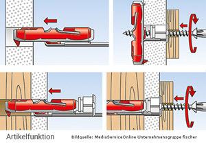 fischer DUOTEC 12 - 2-Komponenten Nylon-Kippdübel - auch für Vollbaustoffe