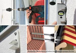 Fischer Abstandsmontagesystem Thermax 16/170-M12 - Montagebeispiel Markiese