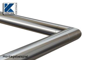 Rohrbogen 90° Gehrung zum Einkleben in Rohr 42,4x2,0 mm - verklebt