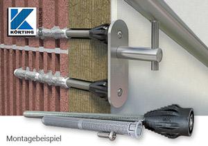 Fischer Abstandsmontagesystem Thermax 16/170 mit M8 zur Montage von Handläufen an gedämmten Fassaden