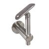 Edelstahl Handlaufhalter, höhenverstellbar mit Gelenk und Anschraubplatte für Rohr 42,4 mm